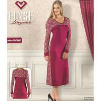"""Женская рубашка-платье с длинным рукавом""""Sevim"""" XPL1940-8262"""