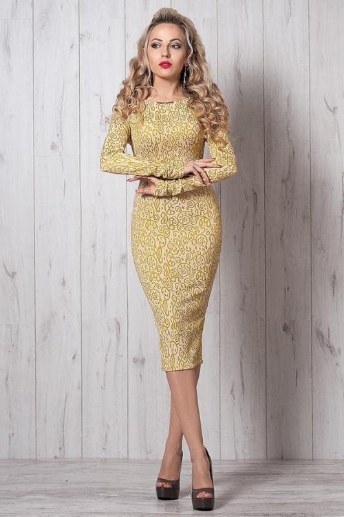 e505d703214103d Шикарное вечернее платье из жаккардовой ткани с золотой люрексовой нитью -  Оптово-розничный магазин одежды
