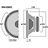 "Сабвуферный динамик 10"" Monacor SPH-250TC, фото 2"
