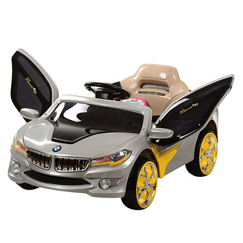 Детский электромобиль  M 2701 ELR-11: 27Mhz, 12V, 50W, Эко-кожа, EVA - СЕРЕБРО - купить оптом