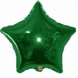 Фольгований кулю у формі зірки, зелений, фото 2