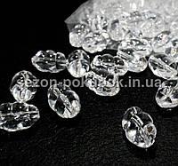 Кристаллы для декора с отверстиями. 28х18мм Цена за 10 шт.