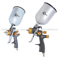 Фарборозпилювач InterTool LVLP BRONZE NEW з верхнім метал.бачком, проф.(d-1,8мм,V-600мл,Р-до 1,0бар)