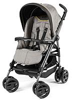 Прогулочная коляска Peg-Perego Pliko P3 Compact Classico 4, Да, Peg-Perego, Двойные, Luxe Grey, Одинаковая