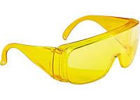 Очки защитные открытого типа, желтые, ударопрочный поликарбонат, СИБРТЕХ 89157