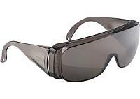 Очки защитные открытого типа, затемненные, ударопрочный поликарбонат, СИБРТЕХ 89156