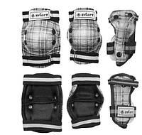Защита детская наколенники, налокотники, перчатки ZEL SK-4678BK-M CANDY (р.M-8-12лет, черная)