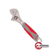 Ключ разводной INTERTOOL XT-0015 (размер - 0-20мм, L - 150мм, рукоятка из резины)