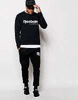 Мужской  чёрный  костюм Reebok Classic