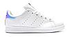 "Женские Кроссовки Adidas Stan Smith ""White Silver"" - ""Белые Серебристые"" (Копия ААА+)"