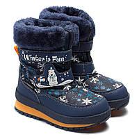 Зимние сапоги B&G, для мальчика, на липучках, размер 22-27