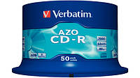 CD-R Verbatim 700Mb 52x (Cake Box) Crystal (43343)