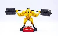 c-2248-a8(1) Статуэтка (фигурка) наградная спортивная Тяжелая атлетика Штангист C-2248-A8 (р-р 30х8х14см)