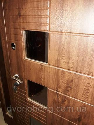 Входная дверь двух створчатая модель П3-501 vinoriy-02 СТЕКЛА, фото 2
