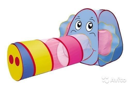 """Детская игровая палатка с тоннелем """"Слоник"""" Baby Tilly 889-87В"""