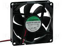 EE80251B1-A99 (вентилятор DC, 80x80x25.12V, ball, 69,6м3/год, 33дБ)
