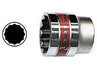 Головка торцева, 19 мм, 12-гранна, CrV, хромована MTX MASTER 136919