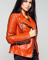 Куртка косуха экокожа | Косуха leo орнажевый