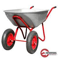 Тачка садово-будівельна двоколісна InterTool 65л,140кг