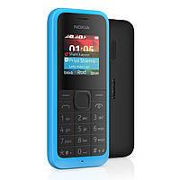 "Nokia Asha 105 Cyan DUOS / 2 MicroSim / 1.4"" (128х128) TFT / no Cam / no GPS / no Wi-Fi / no BT / FM"