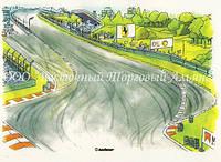 Вафельные картинки Modeсor — Гоночная трасса 20х30 см
