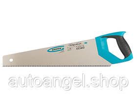"Ножовка по дереву ""PIRANHA"", 450 мм, 7-8 TPI, зуб - 3D, каленый зуб, 2 комп. рукоятка GROSS 24100"