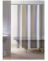 Стильная штора в ванную 120 (x2) x 200 см серия Denim Stripe