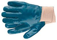Рукавички робочі з трикотажу з нітрилові обливом, манжет, M СИБРТЕХ 67756