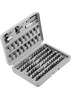 Набір біт, адаптери для біт, CrV, 100 предм., в пластиковому боксі SPARTA 113975