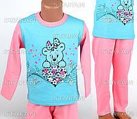 Детская пижама для девочки, интерлок Betul D03 2-3-R.