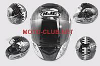 "Мотошлем-интеграл   ""HJC""   (mod:R1) (size:XXL, черно-белый, SAMURAI)"