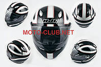 "Мотошлем-интеграл   ""HJC""   (mod:R1) (size:L, черно-белый, CLASSICO)"