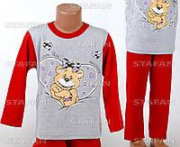 Детская пижама для девочки, интерлок Betul D06 2-3-R.
