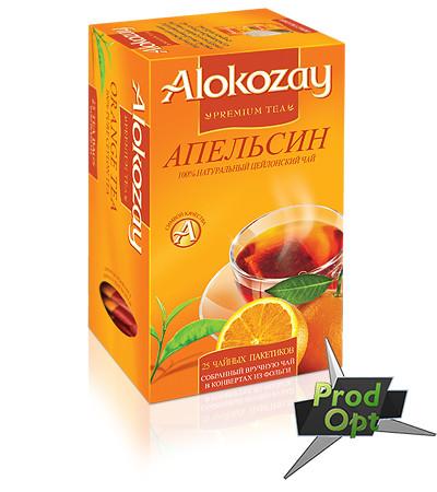 Чай Alokozay чорний з апельсином 25 пакетів