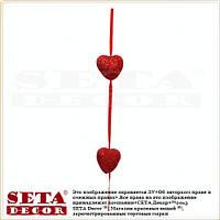Гирлянда красные Сердечки на ленте 120 см