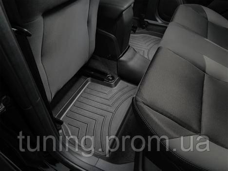 Коврики салона 2 ряд с бортами чёрные Weathertech Ford Focus 2014-on