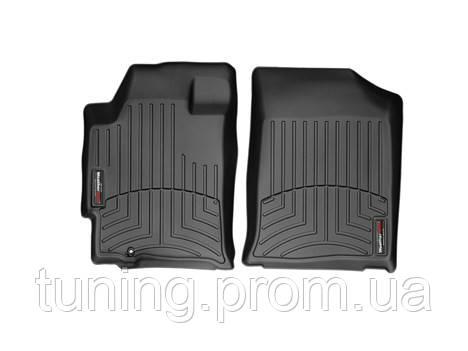 Коврики салона 1 ряд с бортами чёрные Weathertech Nissan Altima 2012-on