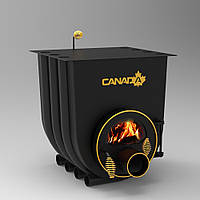 Печь калориферная «Canada» «01» с варочной поверхностью и стекло или перфорация