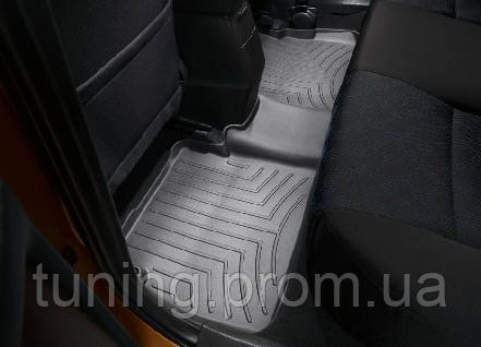 Коврик с бортами салона задний черный Toyota Corolla