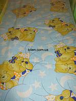 Матрас голубенький для детской кроватки КПК-SuperLUX  кокос-поролон-кокос, 120х60 см. Толщина 10 см.