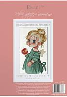 """Набор для вышивания """"Ангелочек с яблоком"""", 057 ТМ """"Dantel"""""""