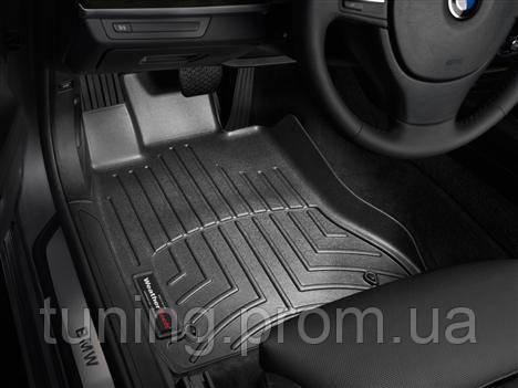 Коврики салона 1 ряд с бортами чёрные Weathertech BMW 7 2008-on