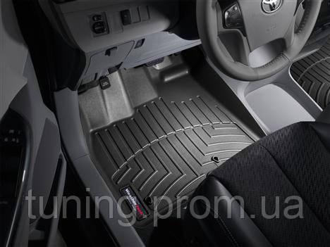 Коврики салона 1 ряд с бортами чёрные Toyota Sienna 2011-on