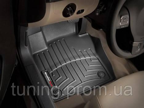Коврики салона 1 ряд с бортами чёрные Weathertech Volkswagen Beetle 2014-on