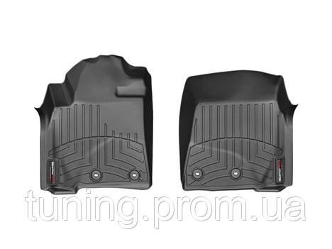 Коврики салона 1 ряд с бортами чёрные Weathertech Toyota LC 2013-on
