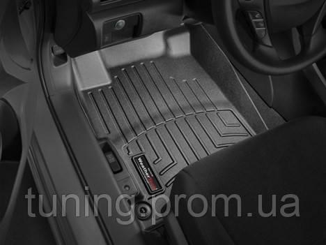 Коврики салона Weathertech 1 ряд с бортами чёрные Honda Accord 2013-on