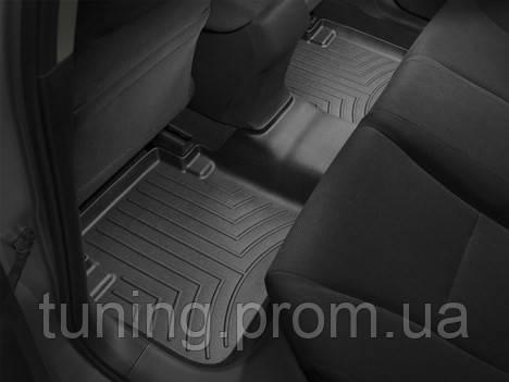 Коврики салона Weathertech 2 ряд с бортами чёрные Honda Accord 2013-on
