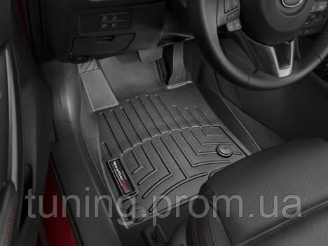 Коврики салона 1 ряд с бортами черные Mazda 2013-on
