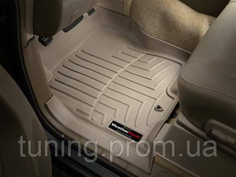 Коврики салона 1 ряд с бортами бежевые Nissan Pathfinder 2012-on