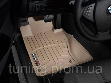 Килимки салону 1 ряд з бортами бежеві Weathertech BMW X3 2003-2010